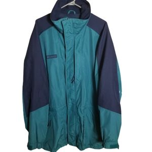 Vtg Columbia Double Whammy Ski Jacket Turquoise